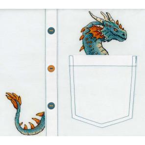 Пример вышитой работы Благородный дракон Набор для вышивания МП Студия В-252