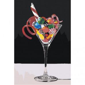 Сладкий коктейль Раскраска картина по номерам на холсте