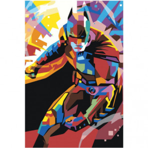 Красочный бэтмен 100х150 Раскраска картина по номерам на холсте