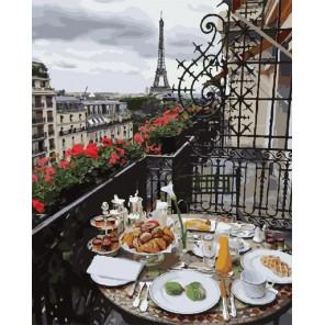Утро в Париже Раскраска картина по номерам на холсте GX28602