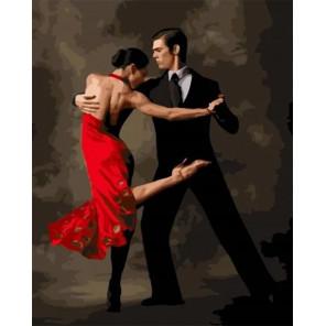 Танго в красном Раскраска картина по номерам на холсте MCA783