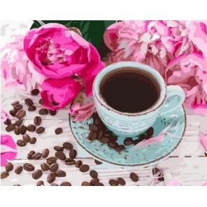 Кофе в зернах Раскраска картина по номерам на холсте MCA1027