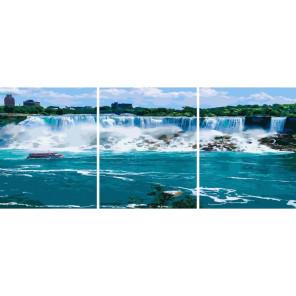 Ниагарский водопад Триптих Раскраска картина по номерам на холсте РХ5310