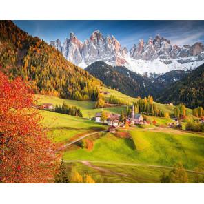 Осень в Альпах Алмазная мозаика вышивка на подрамнике Molly KM0655