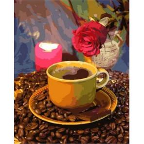 Кофе при свечах Раскраска картина по номерам на холсте MCA1068
