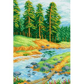 Сосны Канва с рисунком для вышивки МП Студия СК-020