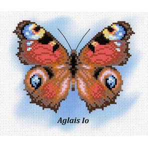 Бабочка. Павлиний глаз Канва с рисунком для вышивки МП Студия СК-029