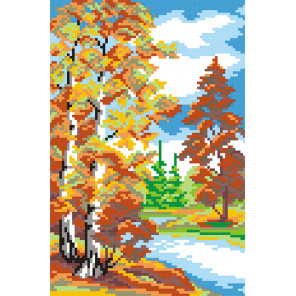 Осень Набор для вышивания МП Студия КН-419