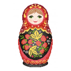 Матрёшка. Хохломская роспись Набор для вышивания МП Студия КН-451