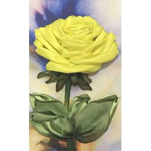Желтая роза Набор для вышивки лентами Каролинка КЛ(Н)-4016