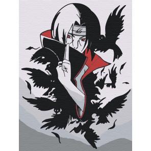 Итачи и вороны 2. Аниме Раскраска картина по номерам на холсте AAAA-RS050-75x100