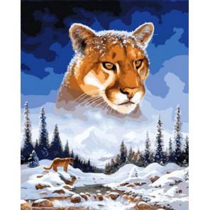 Снежный барс Раскраска картина по номерам на холсте GX37887