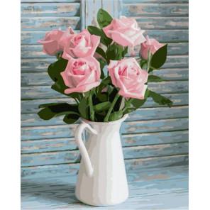 Розовый букет Раскраска картина по номерам на холсте GX37824