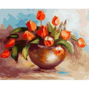 Букет тюльпанов Раскраска картина по номерам на холсте GX37752