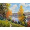Осенний день. Прищепа Раскраска картина по номерам на холсте Molly KH0983