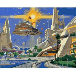 Город будущего Раскраска картина по номерам на холсте Molly KH0967