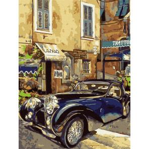 Бугатти 1939 г. Раскраска картина по номерам с цветной схемой на холсте Molly KK0681