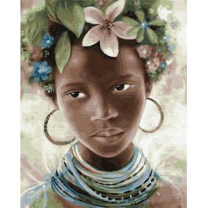 Африканские украшения Раскраска картина по номерам на холсте ZX 23302