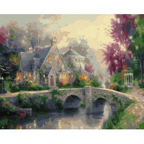 Дом у каменного моста Раскраска картина по номерам на холсте ZX 23271