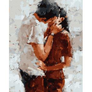 Нежный поцелуй Раскраска картина по номерам на холсте ZX 23292