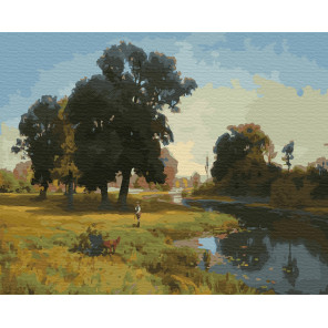 Река Гнилица Раскраска картина по номерам на холсте ZX 23366