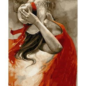 Танец в красном платье Раскраска картина по номерам на холсте ZX 23920