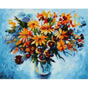 Разноцветные ромашки Раскраска картина по номерам на холсте 920-AB