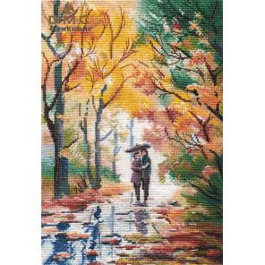 Осенняя прогулка Набор для вышивания Овен 1354