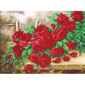 Аромат роз Набор для частичной вышивки бисером Паутинка Б-1300