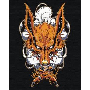 Наруто и Курама/Вместе. Аниме Раскраска картина по номерам на холсте AAAA-RS072-100x125