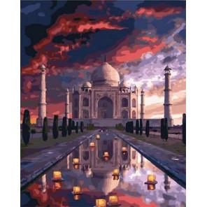 Невероятный Тадж-Махал Раскраска картина по номерам на холсте GX38067