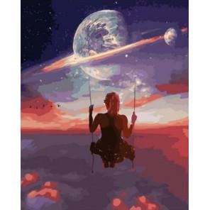 Космический полет Раскраска картина по номерам на холсте GX38221