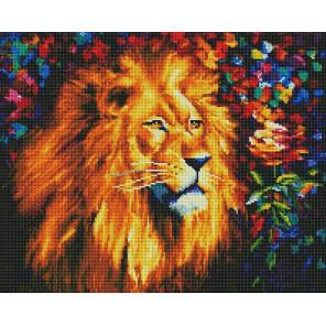 Царь зверей Алмазная мозаика вышивка на подрамнике GF4654