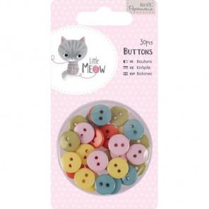 Little Meow Набор мини пуговиц Docrafts