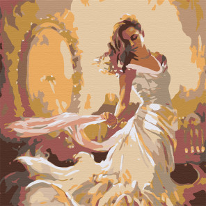 Девушка перед зеркалом Раскраска картина по номерам на холсте MS02