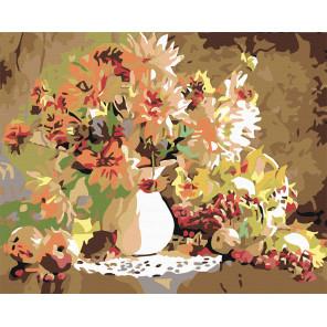 Осенняя композиция Раскраска картина по номерам на холсте F03