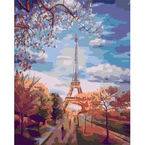 Осень в Париже Раскраска картина по номерам на холсте FR04
