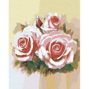 Розовое трио Раскраска картина по номерам на холсте F10