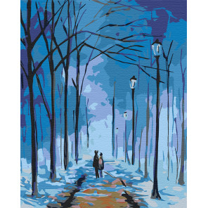 Тихий зимний вечер Раскраска по номерам на холсте Живопись по номерам RA114
