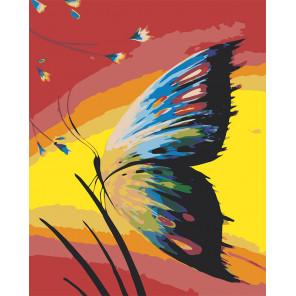 Радужная бабочка Раскраска по номерам на холсте Живопись по номерам RA126