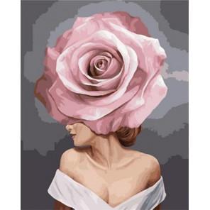 Девушка-цветок. Очарование Раскраска картина по номерам на холсте GX38663