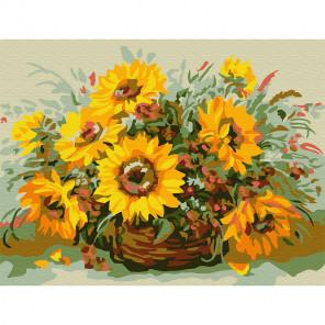 Солнечный букет Раскраска картина по номерам на холсте (холст на твердой основе) KH0751