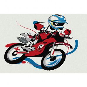 Мотогонка Раскраска картина по номерам на холсте KHM0008