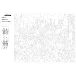 Схема Веселое фото Раскраска картина по номерам на холсте A427