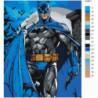 В синем плаще неоновый 80х100 Раскраска картина по номерам на холсте