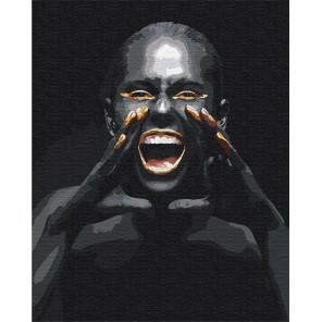 Крик / Африканка 80х100 см Раскраска картина по номерам на холсте с металлической краской AAAA-RS080-80x100