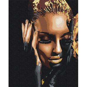 Стильная девушка / Африканка 100х125 см Раскраска картина по номерам на холсте с металлической краской AAAA-RS081-100x125