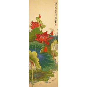 Красный лотос Набор для вышивания XIU Crafts 2030826