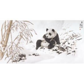 Пример оформления в рамку Панда и бамбук Набор для вышивания XIU Crafts 2032103