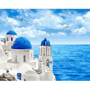 Эгейское море Раскраска картина по номерам на холсте GX29448